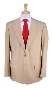 Kiton Recent Solid Tan 2-Btn Wool Luxury Summer Suit 42L