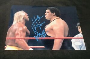 Hulk Hogan Autographed 8.5x11 Photograph Wrestlemania 3 JSA ANDRE THE GIANT
