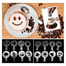 Cappuccino Latte Coffee Cake Cupcake Decorating Stencil Mold 16pcs Tool Template