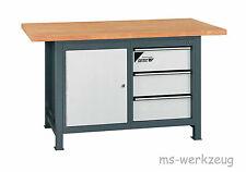 Jordan Metec 22663/84522 Werkbank mit Schubladenbox und Stahlblechunterschrank