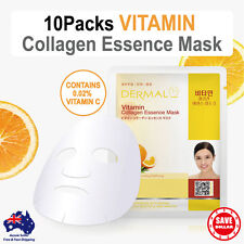 10x DERMAL Vitamin Collagen Essence Facial Face Mask Sheet Skin Pack Korea