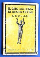Medicina Naturale - J.P. Muller - Il mio sistema di respirazione - ed. 1927
