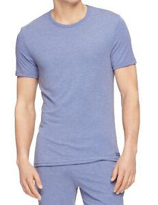 Calvin Klein Mens Sleepwear Heather Blue Large L Jersey Knit Crewneck $34 184