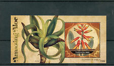 Tanzania 2011 MNH Flowers of Africa Amazing Aloe 1v S/S Flora Fan Aloe