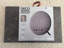 Tzumi Deco Series Speaker- Small Wireless Bluetooth Speaker Good Sounds- Grey
