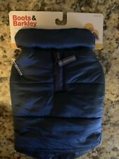 Dog BOOTS & BARKLEY Blue Down Coat Size S