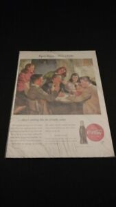 Collectible 1946 Coca-Cola Full Page Print Ad Open House Have a Coke 14 x 10.25