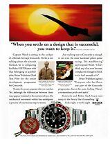 ROLEX Watch GMT-Master British Airways CONCORDE Original 1995 Print Ad !!