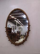 D17044 Large Vintage Gold Framed Oval Wall Mirror