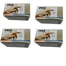 Set of 4 Pyle PVC1 Wall Mount Rotary Volume Control Knob Wall Plates Included