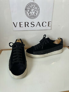 Versace Black Leather Sneakers/Shoes Size UK 9 EU 43