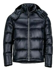 Marmot Men's Stockholm Down Puffer Jacket 700 Fill, Jet Black, Large (L)