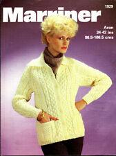 Marriner Knitting Pattern, Lady's Aran Jacket, 34-42in, 1929