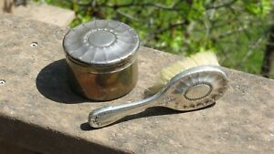 Antique Sterling Silver TIFFANY Powder Jar & Hair Brush Vanity Set
