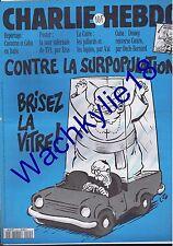 Charlie Hebdo n°115 du 07/09/1994 Pape Jean-Paul II Papamobile Luz
