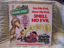 Sesame Street See No Evil, Hear No Evil,SMELL NO EVIL Golden Fragrance Book 1975