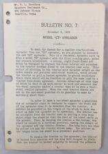 New listing 1938 Antique John Deere Bulletin / Jd Model Et Spreader