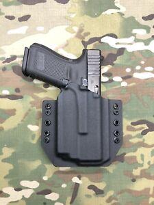 Black Kydex Holster for Glock 19 23 Olight PL-Mini 2