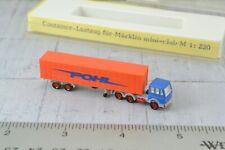 Noch 4748 Pohl Tractor Trailer Truck Orange Z Scale 1:220