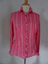 Pretty DIRNDL BLOUSE  Pink/White    Cotton    Size  EU 42 / UK 14          441 B