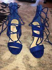 blue heels size 6