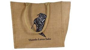 NEW Vintage Manolo Loves SAKS, SAKS FIFTH AVENUE Purse Handbag Tote