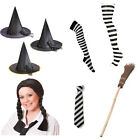 Worst Witch Mildred Hubble Book Day Fancy Dress Prop Costume Tie Hat Broom Tight