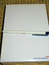 BRITISH AIRWAYS A5 NOTEPAD BRAND NEW PLUS PEN  LOGO RARE SMART AIRLINE