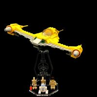 Acryl Display Stand Acrylglas Standfuss für LEGO 7141 Naboo Fighter