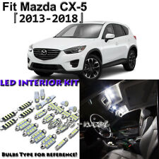 8 x White Interior LED Light Package Kit for Mazda CX-5 2013 - 2016 2017 2018