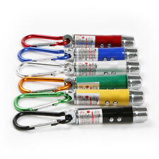 1pc Mini Keychain 3 in1 LED UV Red Laser Flash Beam Light Pointer Pen Torch 75mm