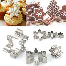 3pcs Xmas Snowflake Biscuit Cookies Cake Fondant Cutter Mold Decorating DIY Tool