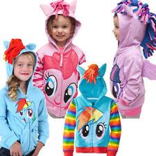 Girls My Little Pony Hoodie Wings Kids Jacket Sweater Twilight Rainbow Dash 2-8Y