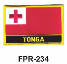 """2-1/2'' X 3-1/2"""" TONGA Flag Embroidered Patch"""