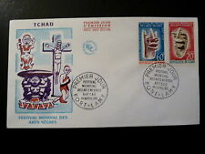 TCHAD 120/21  PREMIER JOUR  FDC     ARTS NEGRES , MASQUES    60+20F      1966