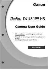 Canon ELPH 110 HS IXUS 125 HS Digital Camera User Guide Instruction  Manual