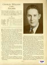 Carl Fischer Freddie Fitzsimmons Psa Dna Signed 1933 Who`s Who 8x10 Photo