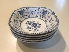 """SET/5 VINTAGE JOHNSON BROTHERS INDIES SQUARE CEREAL BOWLS Made in England 6 1/4"""""""