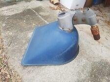 Rare Vintage Blue Porcelain Benjamin Shovel Head Gas Station Industrial Light