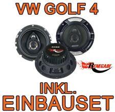 VW Golf 4 IV  3-WEGE BOXEN LAUTSPRECHER Renegade - 16cm EINBAUSET ZUBEHÖR NEU