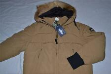 AUTHENTIC PENFIELD MENS EDSON REAL FUR DOWN INSULATED GLACIER TAN L LARGE NEW