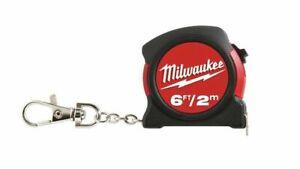 Milwaukee Mini Tape Measure Keychain 6ft / 2m 48-22-5506 Functional Tool NEW