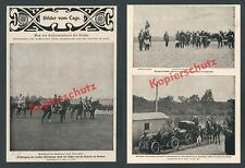 Kaiser manoeuvres Szczecin Wilhelm II. Auto Mercedes-Benz Chauffeur impressed. noise 1900