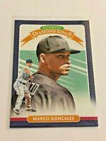 2020 Panini Donruss Baseball Diamond Kings - Marco Gonzales - Seattle Mariners