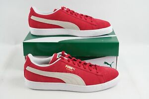 Puma Suede Classic+ 352634 65 Sneakers Casual Red Men's sz 11 Skate Shoes