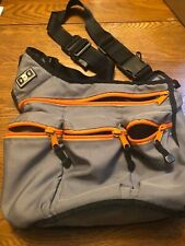 Diaper Dude Messenger Diaper Bag for Dads, Brown and Orange Zippers Baby Bag
