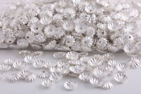 1000 Pcs Silver Plated Flower beads caps spacer DiY Jewelry making findings 6mm