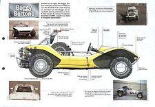 Buggy Bertone Moteur 4 Cylindres de Simca 1200 S 1971 Car Auto FICHE FRANCE