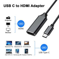 USB-C Type C to HDMI Adapter Cable 4K USB 3.1 Cable For MHL Android Phone ON