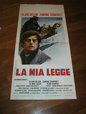 Locandina,La mia legge Les granges brûlées  1973,Simone Signoret,ALAIN DELON
